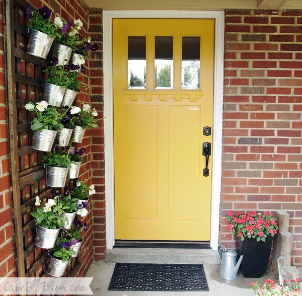 House Tour Totally Updated 1950s Rancher & Best 25+ Yellow front doors ideas on Pinterest | Cottage exterior ...