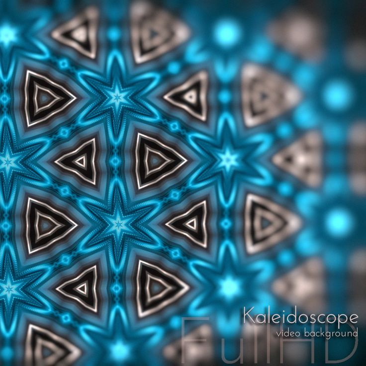 Magic Kaleidoscope Patterns Videoart Loop Background.  Every Day Design Project Series.