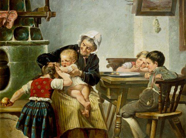 Image result for grandmother and grandchildren painting