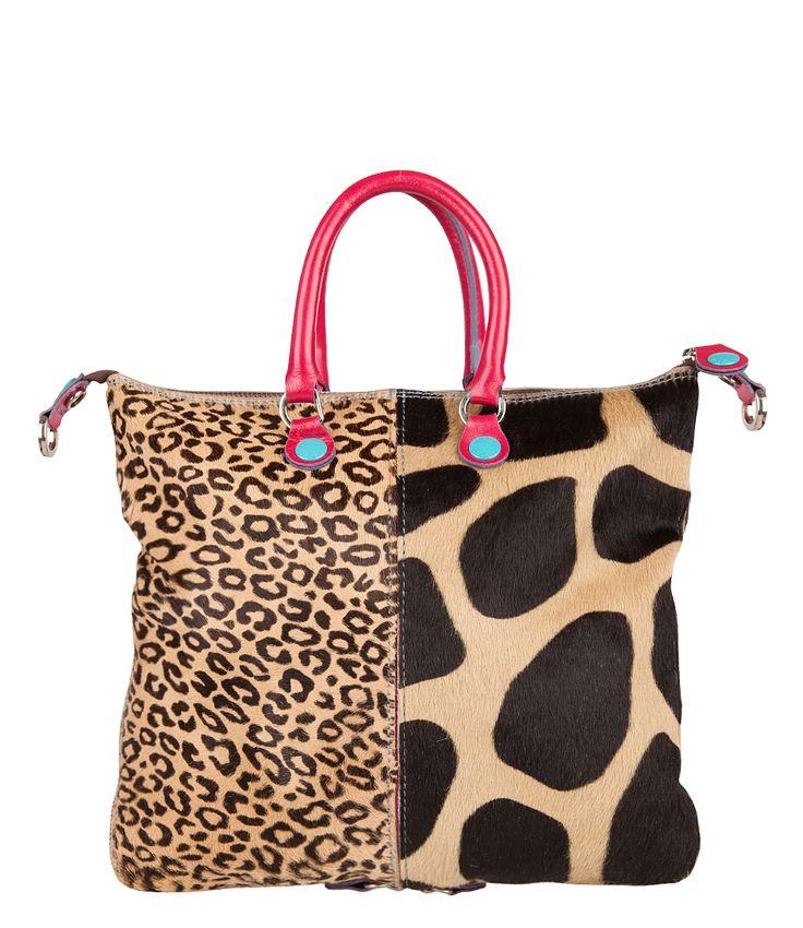 gabs handbags | Gabs Weeklux Handbag beige & fuchsia Leer | Gabs tassen online