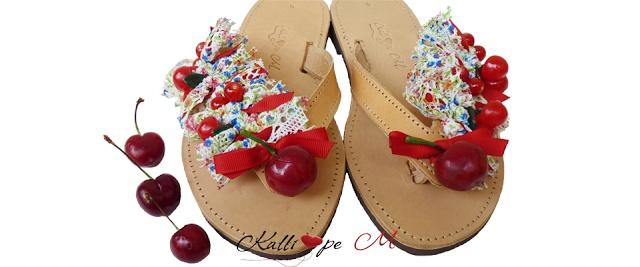 Retro handmade leather sandalas