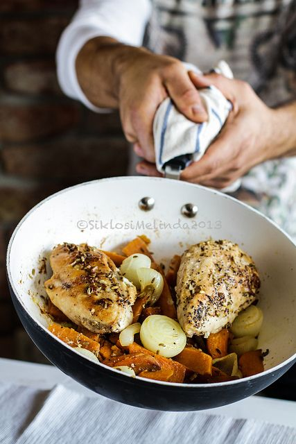 roasted chicken w fennel, onion and sweet potato | Flickr - Photo Sharing!