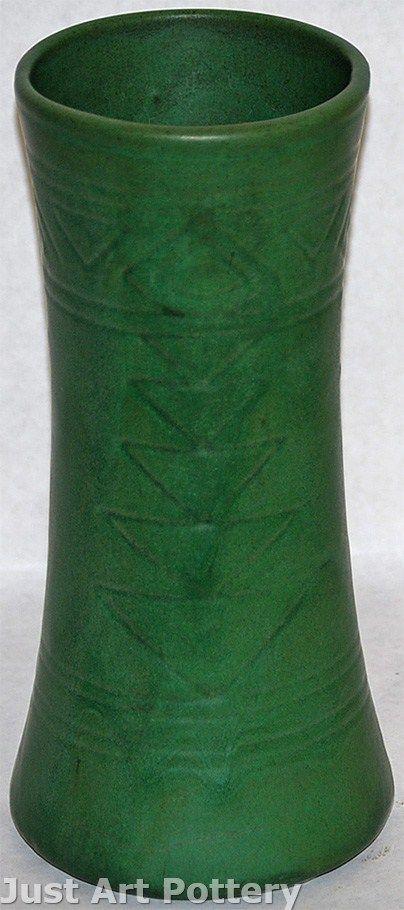 Weller Pottery Matte Green Vase From Just Art Pottery Matte Green Pottery Pinterest Vase