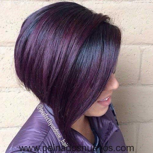 Oscuro Púrpura de Pelo Bob