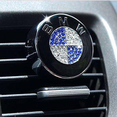 Bmw Car Air Freshener Perfume With Diamonds Logo Emblem 1st Class Postage