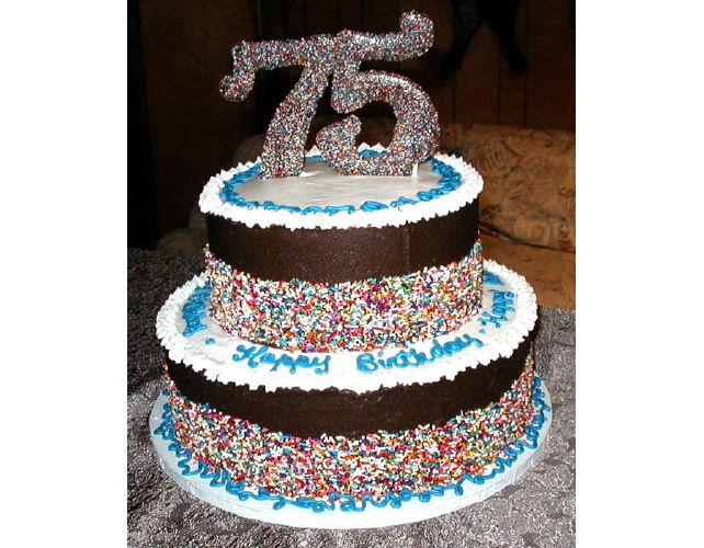 75th birthday cake ideas | 75th Birthday | Great Cakes - Outer Banks Wedding Cakes