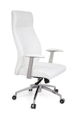 Amstyle Palermo - Sillón de oficina ergonómico, fabricado en piel sintética, color blanco 201 €