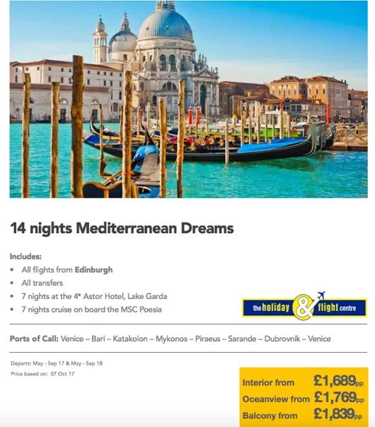 Med Cruise from Edinburgh  on MSC  See more cruise offers here....  https://plus.google.com/u/0/b/117155539269047519956/collection/0so0NE
