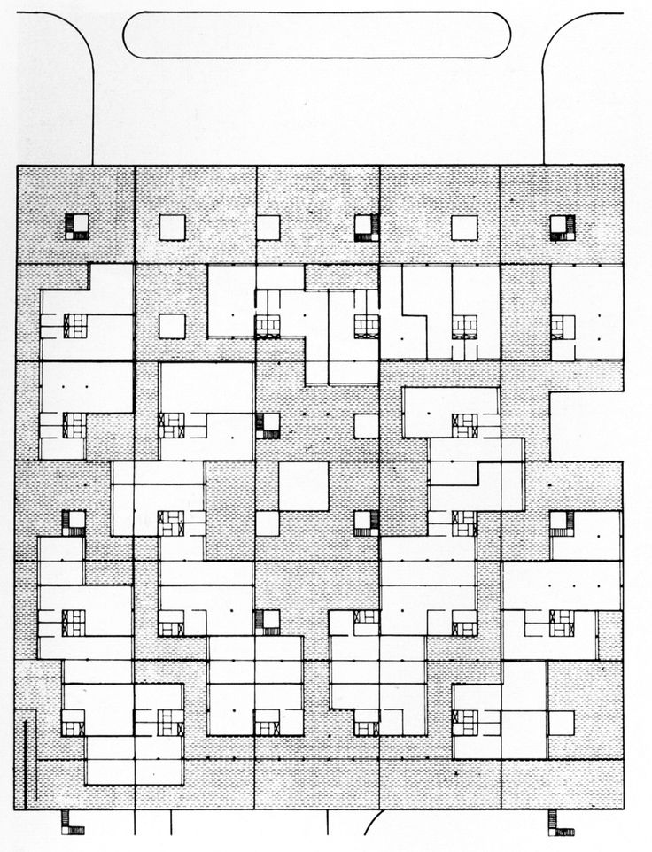 archiveofaffinities: Candilis, Josic, and Woods, Shopping Center, Plan, Toulouse, France, 1963
