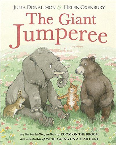 The Giant Jumperee by Julia Donaldson and Helen Oxenbury. Who is the Giant Jumperee scaring the animal friends?
