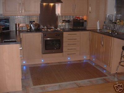 LED Kitchen Lighting - Great picture of LED plinth lights.    http://www.downlightsdirect.co.uk/kitchen-lights.html