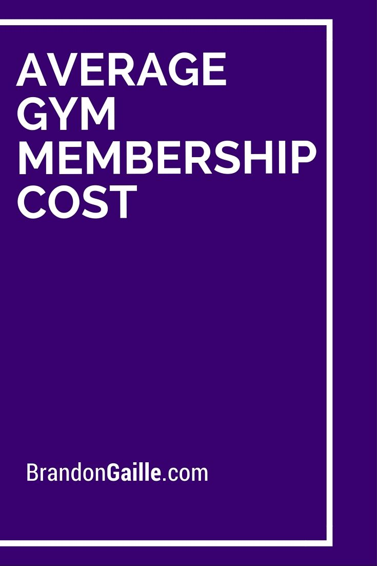 Average Gym Membership Cost