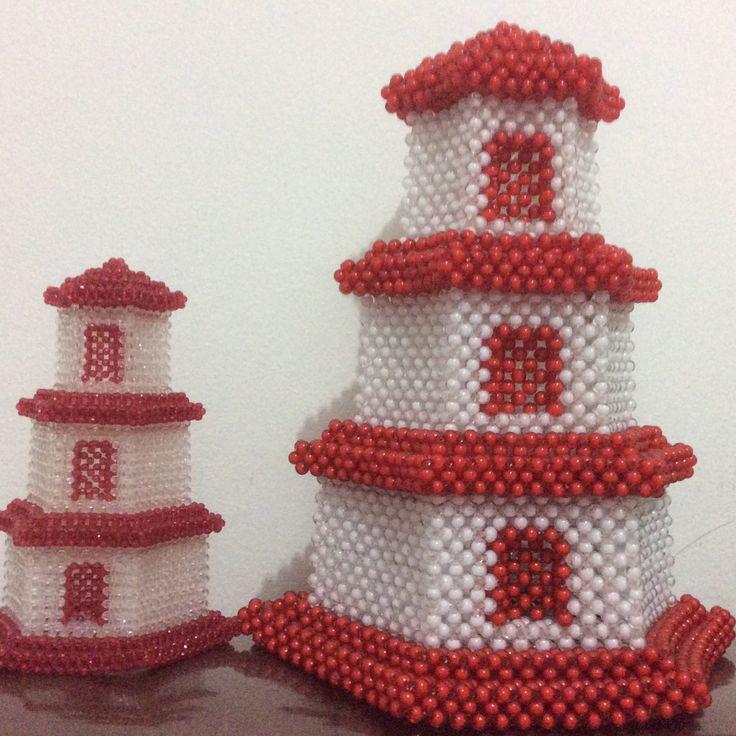 Pagoda Made of acrylic bead