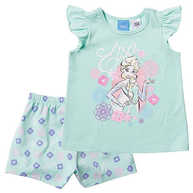 Disney Frozen Elsa Print Pyjama Set