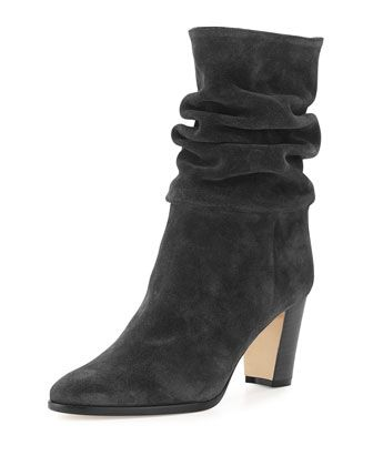 Knight+Slouchy+Suede+Boot,+Alaska+Gray+by+Manolo+Blahnik+at+Neiman+Marcus.