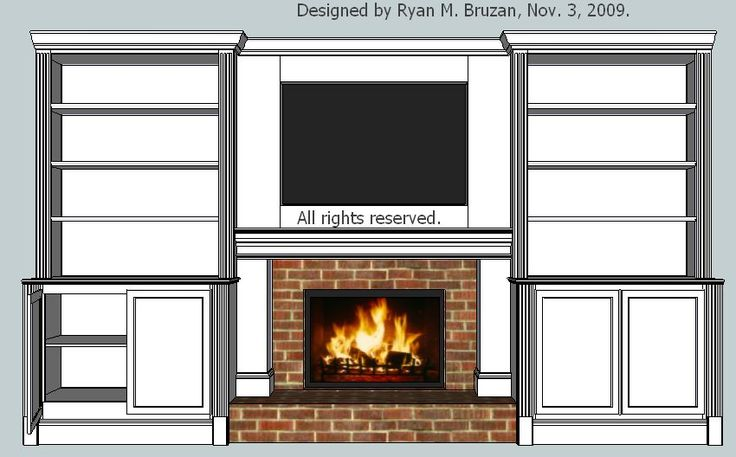 Built in bookcase with fireplace | View Larger, Higher Quality Image
