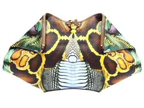Alexander McQueen: python Demanta clutch (from Lee McQueen's last completed collection)