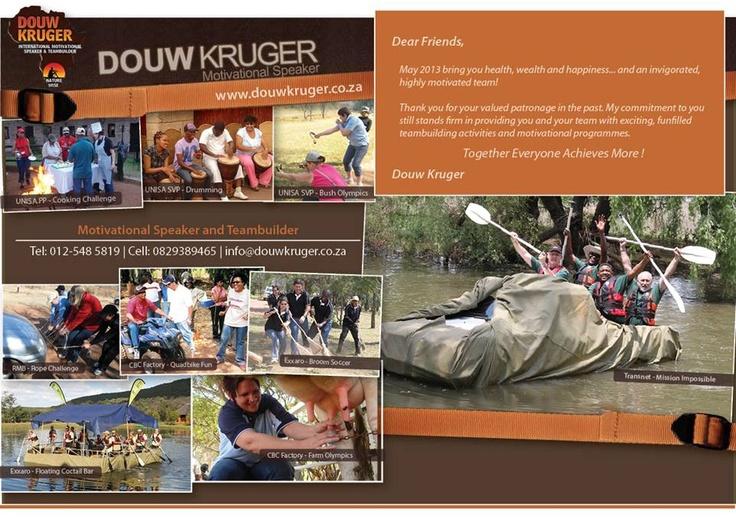 Douw Kruger Teambuilding & Motivational Speaker