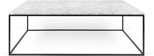 Gleam Rectangular Marble Coffee Table Chrome or Matt Black (Coffee table) | image 4