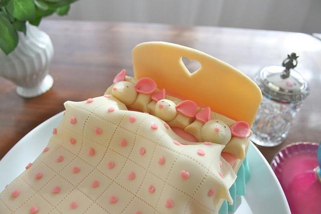 adorable mice in bed cake IMG_9510 by LLG archive, via Flickr