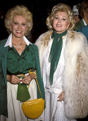 Eva Gabor and Zsa Zsa Gabor - Brunch To Celebrate The 1st Annual St. Patricks Day Parade - Jimmys Restaurant - Beverly Hills, California United States - March 17, 1985