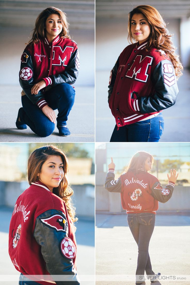 Senior Picture Ideas for Girls | with Letter Jacket