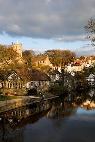 St Johns from High Bridge Knaresborough North Yorkshire England