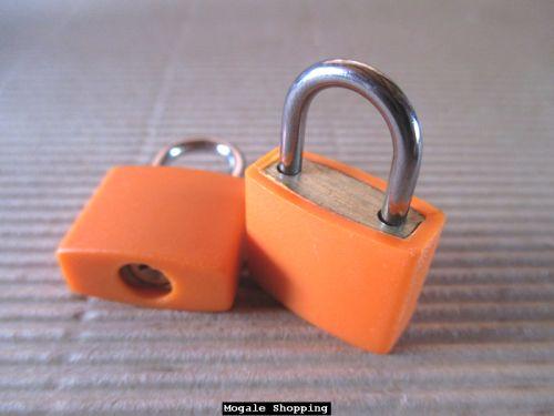 Buy Orange Travel Mini Brass Baggage, Laptop Bag Padlocks - Vibrant Colour Rangefor R50.00