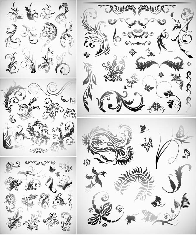 2246 best frames filigree images on pinterest etchings tattoo classic floral swirls ornaments vector vector graphics blog stopboris Choice Image