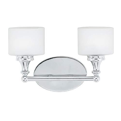 $140.00 Two Light Polished Chrome Quinton Bath Fixture Quoizel 2 Light  Bathroom Lighting Wall Ligh