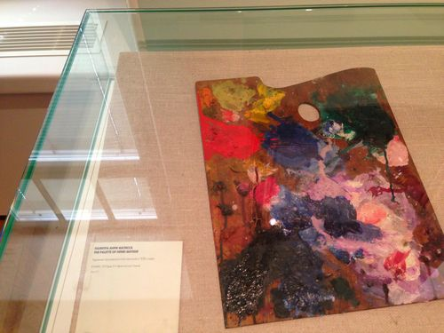 One of Henri Matisse's paint palettes at The Pushkin.