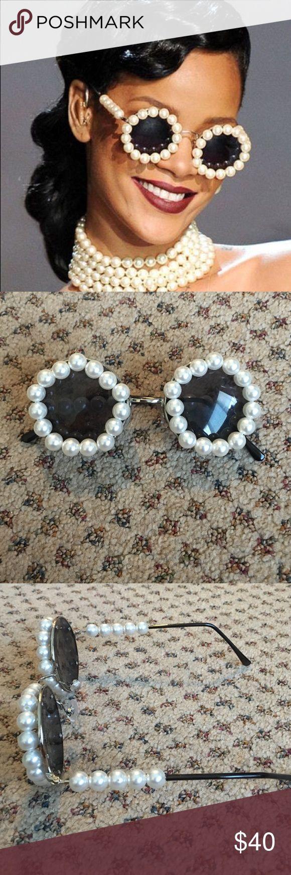 Pearl Sunglasses similar to the ones Rhianna wore. Super cute!!! Accessories Sunglasses