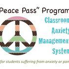 """The """"Peace Pass"""" Program is a Classroom Anxiety Management System for counselors or teachers to use with students suffering with anxiety or panic. ..."""
