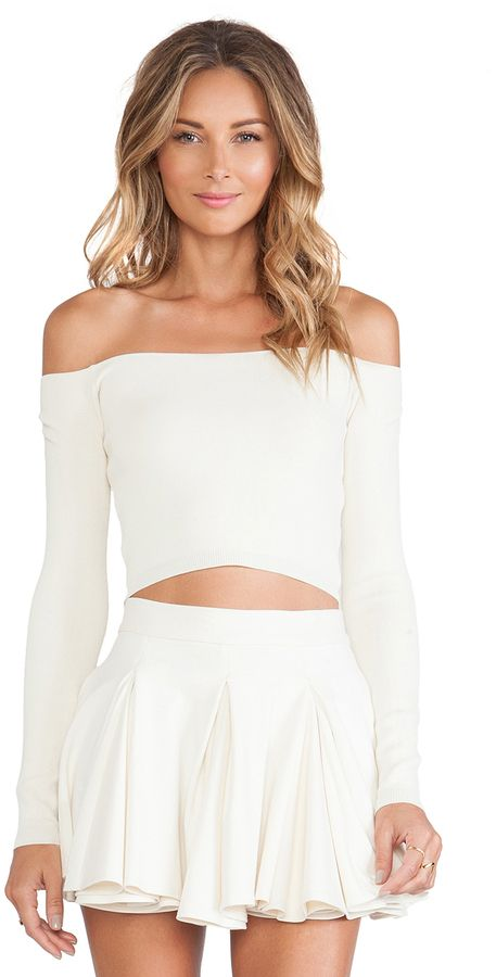 We love skirts and matching crop tops like this!