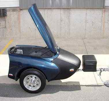 ZZ fiberglass luggage and  cargo trailers for motorcycle and small cars on motorcycletrailer.com