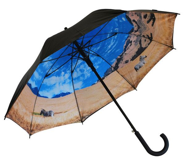 'Into the Wild' Classic Umbrella | Where I'd Rather Be | http://www.whereidratherbe.co.uk/products/into-the-wild-classic-umbrella