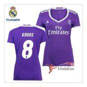 Le Nouveau Flocage Maillot FC Real Madrid Femme (Kroos 8) Exterieur 2016 2017