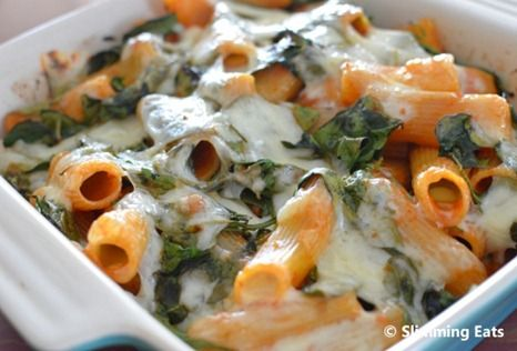 Spinach Pasta Bake | Slimming Eats - Slimming World Recipes