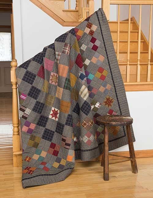 Man Cave Quilt Kit : Grandpa george s cabin quilt kit keepsake quilting