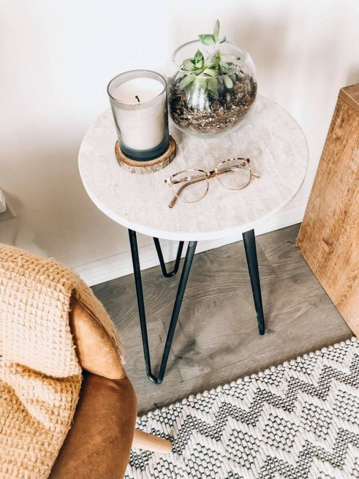 Diy Marble Side Table Marble Side Tables Side Table Decor Diy Marble