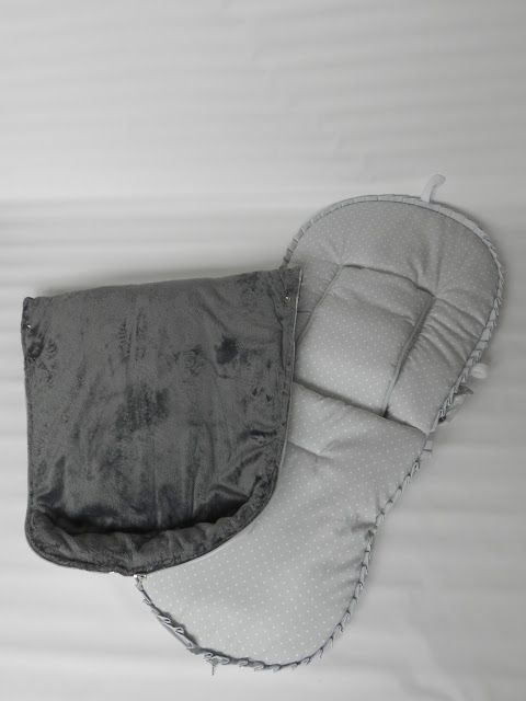 Saco de silla Concord Neo preparado para las temporadas de invierno y de verano.  La colchoneta se confeccionó en canutillo de topo gris y s...