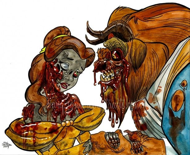 Zombie Beauty and the Beast : More Disney Zombies! - Zombie Art by ...