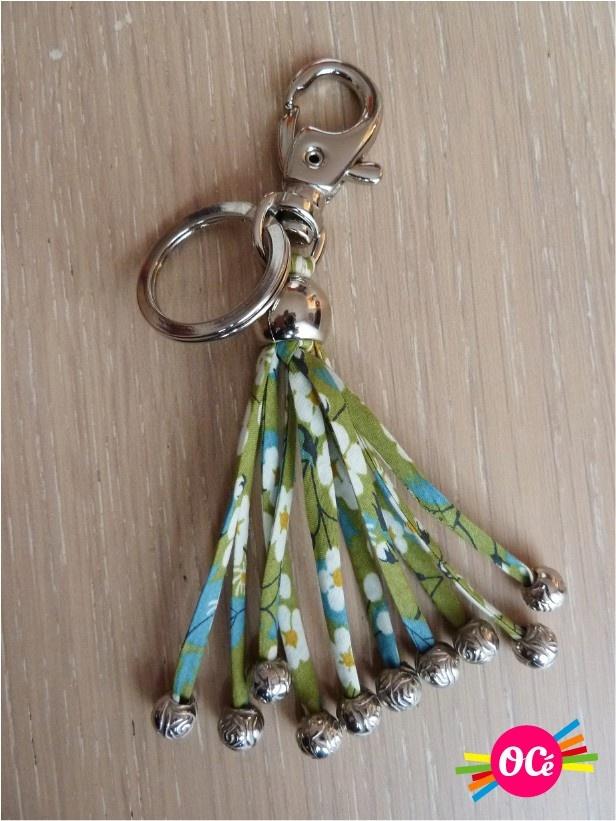 Green liberty keychain