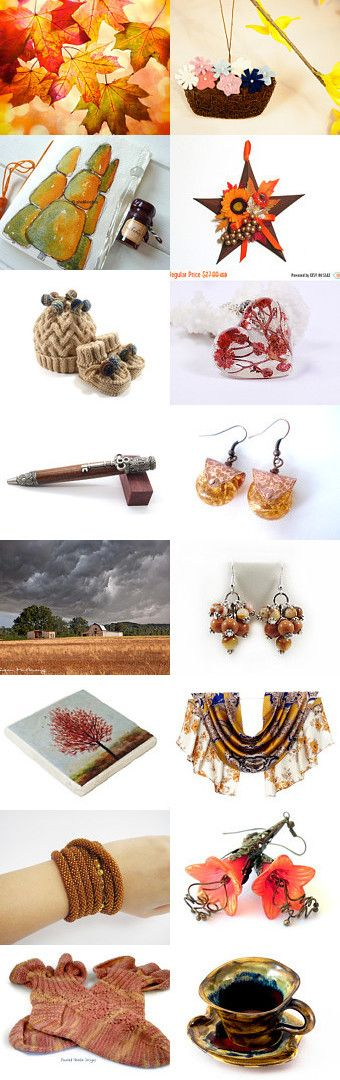 watching the autumn leaves falling of the trees... by Tatie on Etsy--Pinned with TreasuryPin.com
