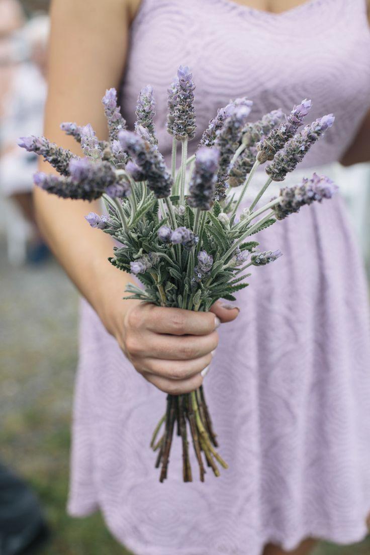 Lovely lavender | Photography: Kate Preftakes Photography - preftakesphoto.com  Read More: http://www.stylemepretty.com/2015/04/24/homespun-backyard-new-hampshire-wedding/