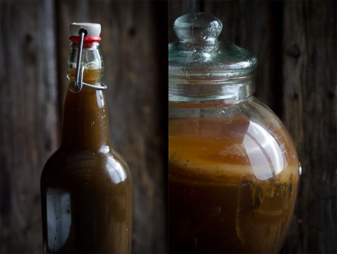 Continuous Brew Kombucha: Super easy method for ensuring a safe, clean and reliable source of kombucha for your family.  You just need a jar with a spigot, tea, sugar, a kombucha mother and that's about it.