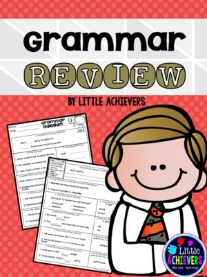 Grammar Review from Little Achievers on TeachersNotebook.com -  (20 pages)  - This Grammar Review packet consists of 10 sets of language review printables to practice and assess grammar skills.