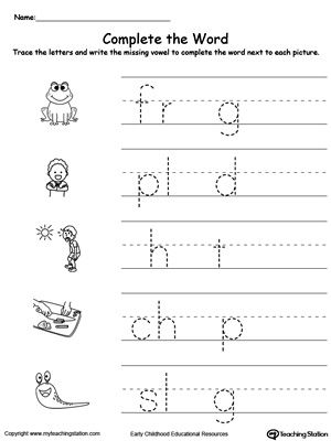 words with the letters 8 best missing vowels images on kindergarten 3649