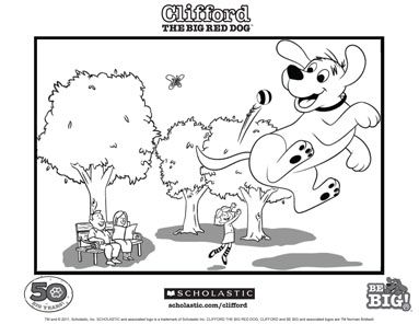 125 best clifford the big red dog images on pinterest | red dog ... - Clifford Printable Coloring Pages