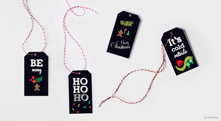 Dark Christmas Tags